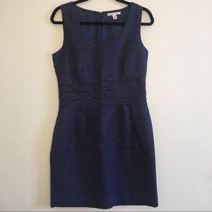 Banana Republic Navy Blue Sheath Dress. Size 10P.